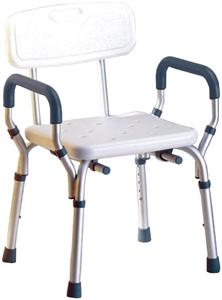 תמונה של כסא רחצה למבוגרים עם ידיות בטיחותי