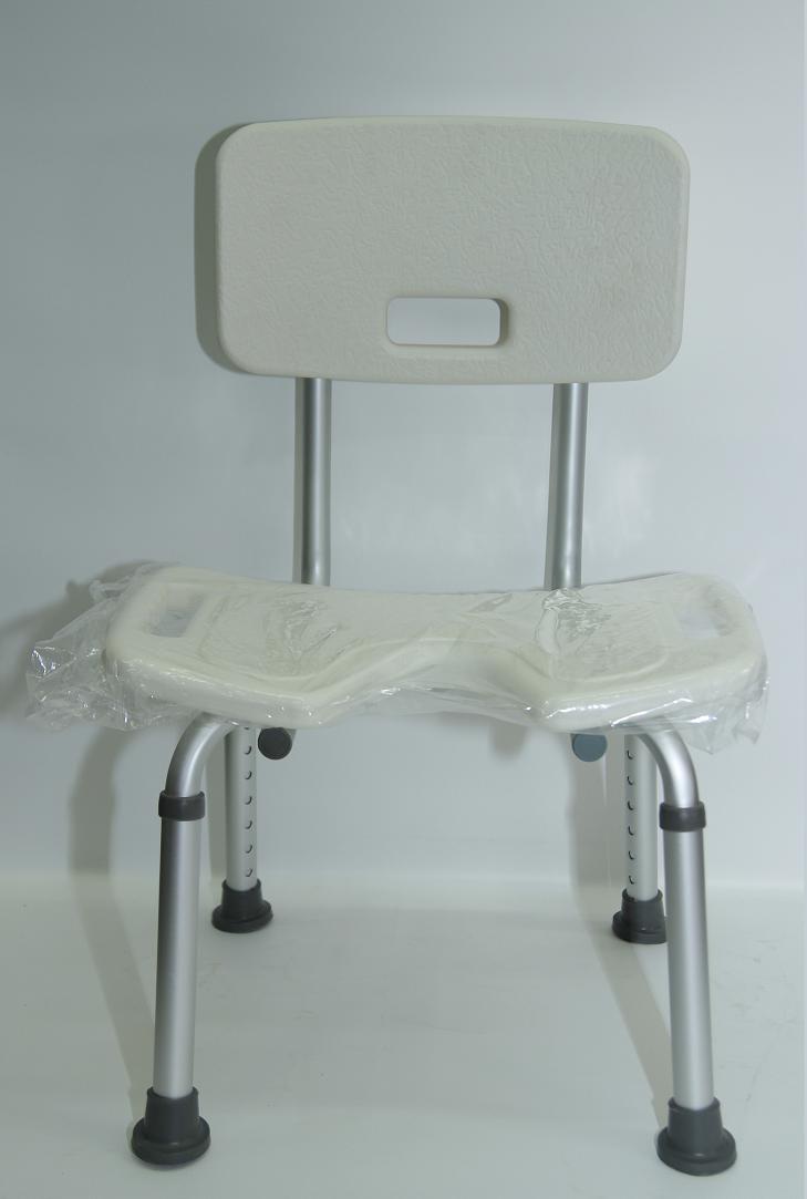 תמונה של כסא רחצה למבוגרים בטיחותי עם פתח U